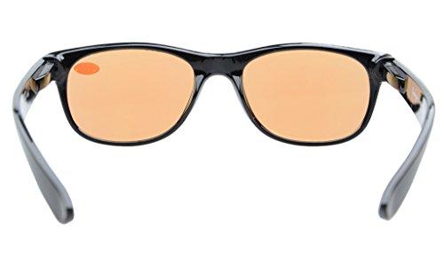 Fr/ühling Gelbe get/önte Linsen Scharniere Computer Lesebrillen Schwarz +1.0 Anti-Blau-Strahlen Eyekepper Leser UV-Schutz Blendschutzbrillen